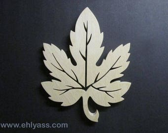 Coaster / trivet (fretwork) solid wood maple leaf