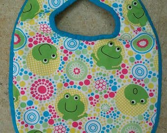 3/6 months collection frogs Terry bib