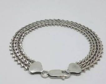 925 Sterling Silver Mesh Link Bracelet