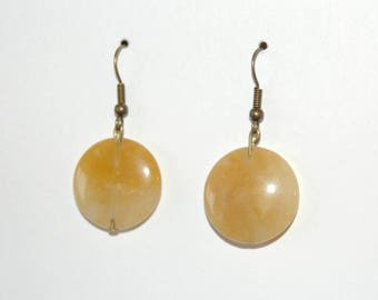 Sand glass coin earrings