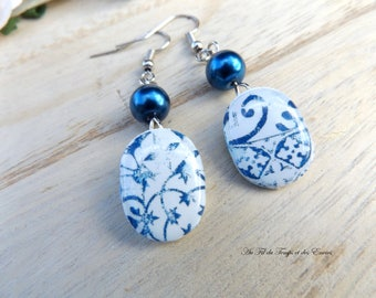 Earrings pendant: Azulejos de Porto
