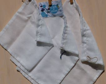 Bags in bulk (x 3) organic cotton voile