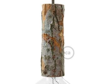wood pendant light socket