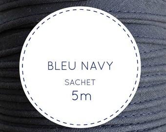 5 m piping - 21 navy blue bag