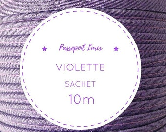 10 m Ultra Violet lurex piping bag