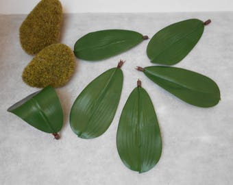 Artificial Orchid leaf - sold individually