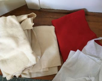 Wool/felt Scrap Fabric Bundle