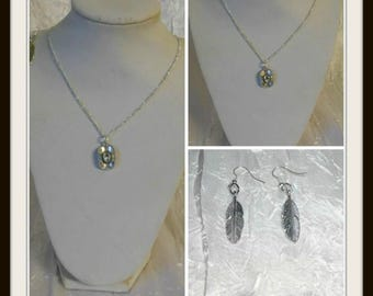 set with country cowboy hat pendant