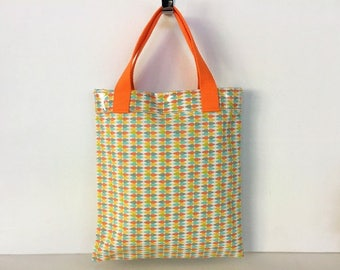 Small tote bag multifunctional with inside lining and summer colors