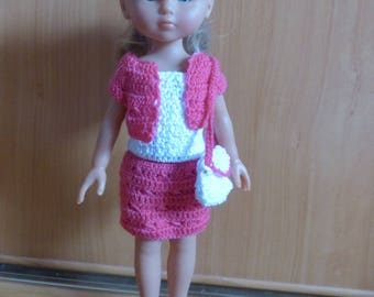 Doll clothes: complete cherished type corolle doll outfit crochet