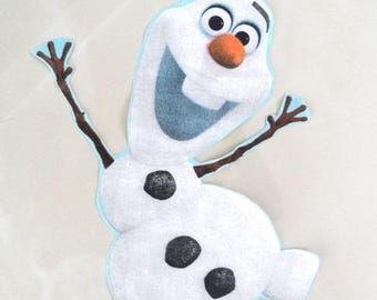 "applique fabric Olaf ""snow Queen"" 46 x 25 cm"