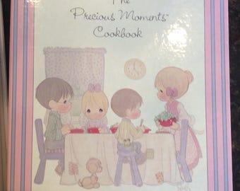 Vintage cookbook, The Precious Moments Cookbook Enesco 1988, Bridal shower kitchen gift, wedding gift, housewarming gift, 80s cookbook,