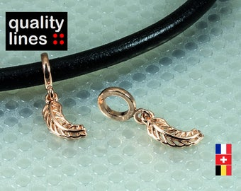 Rose gold plated loop round flat 7 mm - 7mm - from slide sheet rose gold