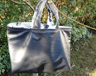 Reversible gray and hippie bag