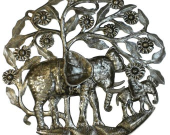 Steel Drum Art - 24 inch Elephant and Calf