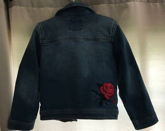 Toddler/Baby/Kids/Girls Custom Patchwork Denim Jacket