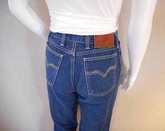 Vintage Wrangler Jeans/waist 26/ High Waisted Mom Jeans Straight Leg Dark Wash