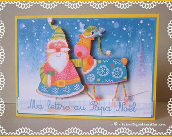 Greeting card: letter to Santa for wise child