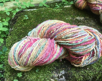 Handspun and hand dyed wool