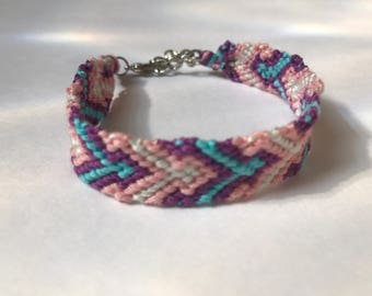 Arrow Chevron Embroidery Floss Woven Braided Friendship Bracelet