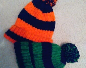 knitted hat has acrylic wool