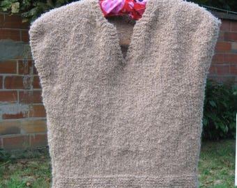 Fluffy wool tank top
