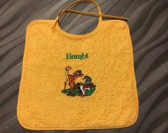 Embroidered bib bambi