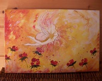 table * orange fairy * painting on canvas