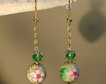 """""""Chinese"""" ethnic beads, Asia, fantasy earrings."""
