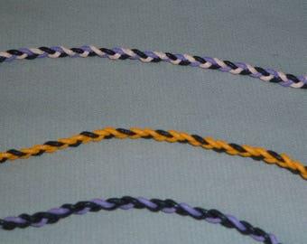 Braided cotton cord bracelet