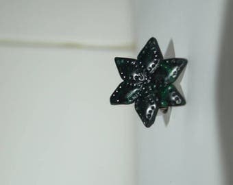 Black Star and emerald ring