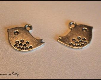 x 1 charm - Sparrow - bird Sparrow in silver