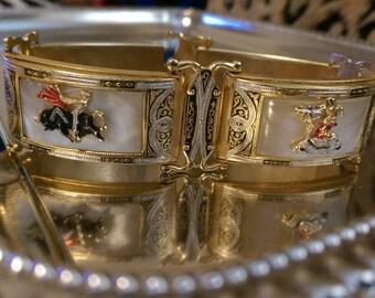 Vintage Matador Hinge-linked Cuff Bracelet