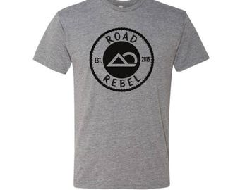Road Rebel Logo Soft Classic T-Shirt in Heather Grey.... Softest T-Shirt You Will Ever Wear