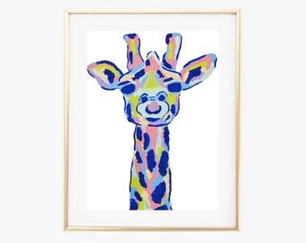 Abstract Giraffe Print,Instant Download PRINTABLE art, Wall art, Wall decor, Printable Decor