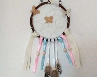 DreamCatcher Butterfly ribbons and beads