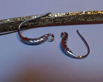 Earring hooks silver plated