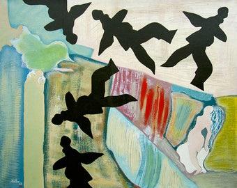 2 sleep. Oil on canvas and frame