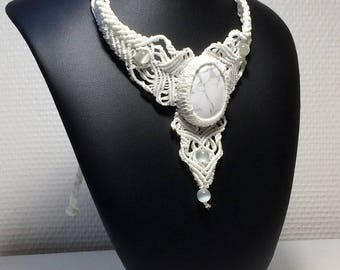 """Harmony"" white howlite necklace"