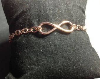 Bracelet plated Rose Gold Infiny