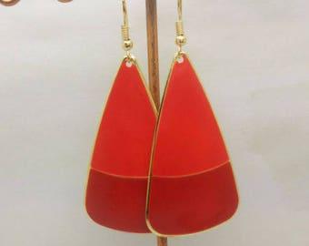 lovely red enamel earrings