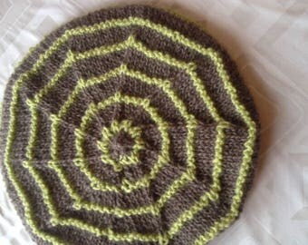 handmade beret wool and acrylic mohair