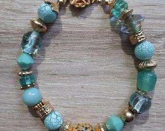 Pacific blue beaded bracelet
