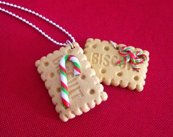 "Necklace fimo ""collection"" Christmas cookies"