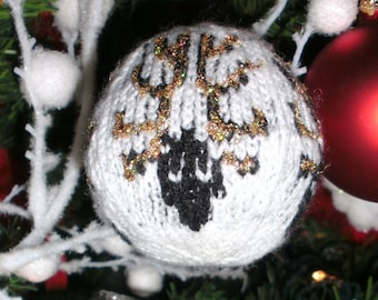 Decorative ball Christmas knit with 4 pcs