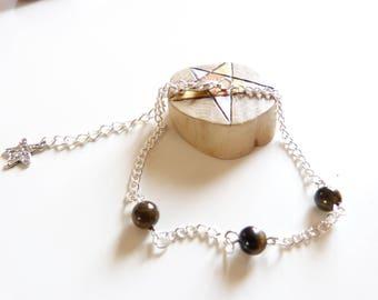 Jewelry woman healing protection semi precious stone Tiger eye stone bracelet