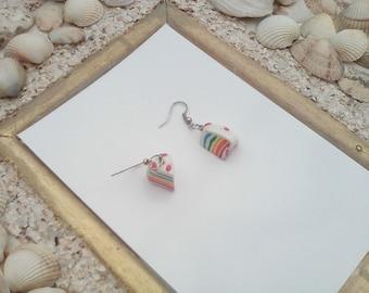 kurling cake multicolor hoop earrings