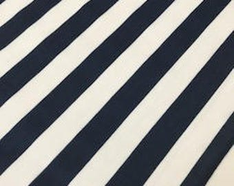 Navy Blue & White Striped Table Runners