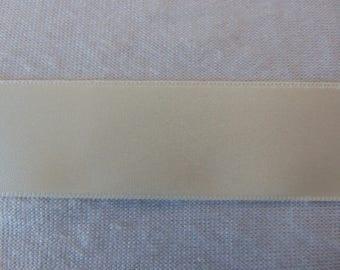 Satin ribbon, off-white, width 15 mm (S-245)
