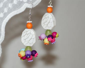 "Earrings with multicolored colors ""Vitamins"""